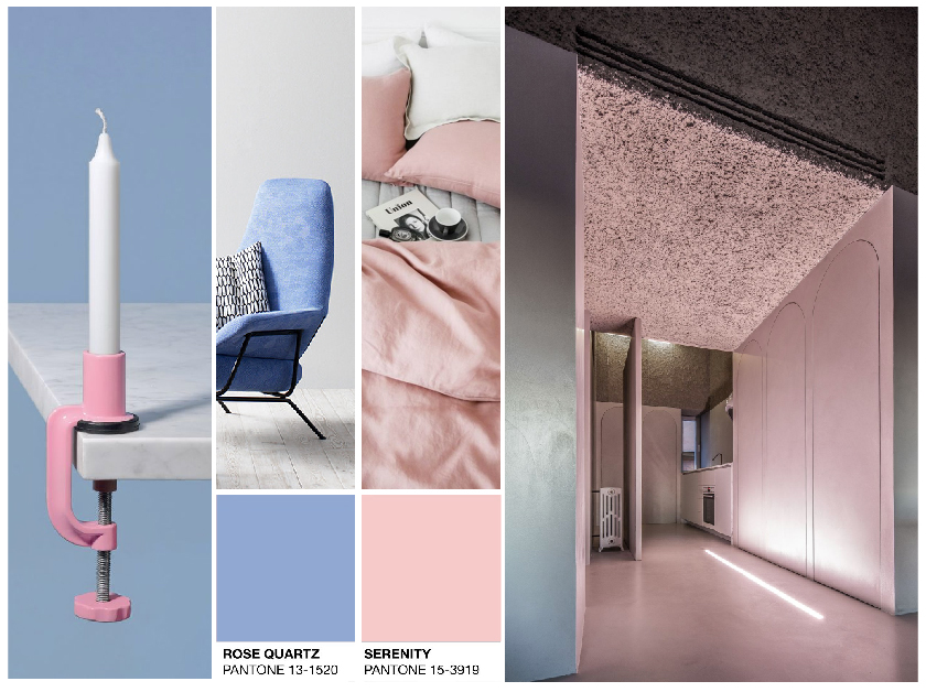 D Design Blog |Pantone color of the year 2016 : Rose Quartz serenity blue